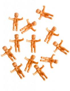 Baby-Dekofiguren für Babypartys 12 Stück hautfarben