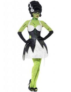 Monster Braut Halloween Damenkostüm schwarz-weiss