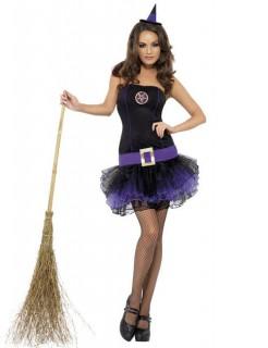 Tutu Hexen Damenkostüm schwarz-lila