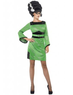 Frankies Girl 50er Halloween Damenkostüm grün-schwarz