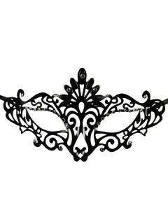 Venezianische Ornament Augenmaske Gothic schwarz