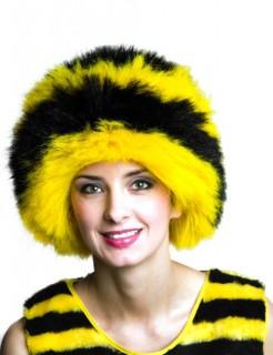 Biene Afro Perücke gelb-schwarz