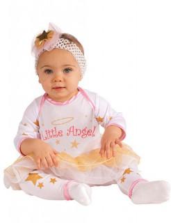 Kleiner Engel Babykostüm weiss-rosa
