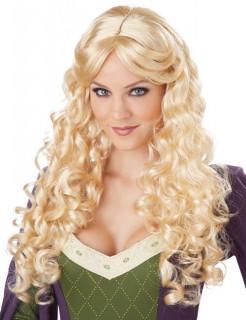 Mittelalter Locken-Langhaar-Perücke blond