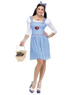 Märchen-Kleid Damenkostüm blau-weiss