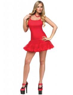 Showgirl Petticoat-Kleid Tänzerin rot
