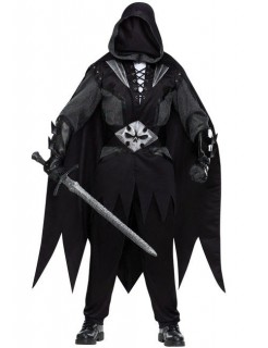 Dämonen-Ritter Halloween-Kostüm schwarz