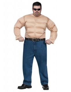Muskel-Oberteil XL Bodybuilder hautfarben