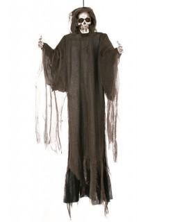 Skelett Halloween-Hängedeko Sensenmann braun 152cm