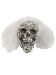 Skelett-Schädel Halloween-Deko weiss 23x14x11cm
