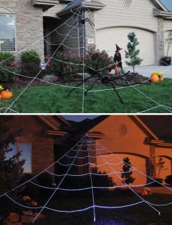 Riesen-Spinnennetz für den Garten Halloween-Deko weiss 7m x 5.7m