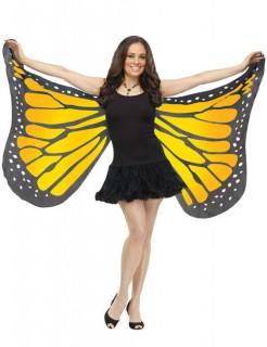 Zarte Schmetterlings-Flügel schwarz-gelb