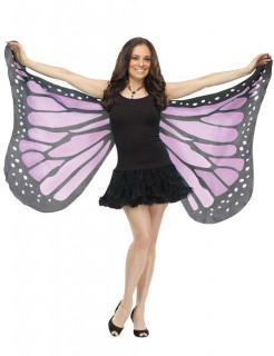 Zarte Schmetterlings-Flügel schwarz-lila