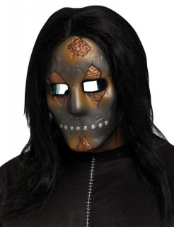 Horror-Puppe Halloween-Maske silber