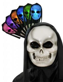 Leuchtende Halloween-Skelett-Maske mit Kapuze Farbenwechsel bunt