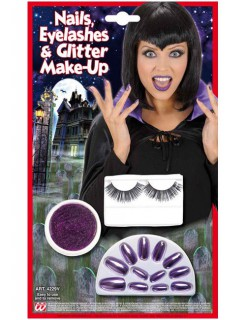Vampirin Halloween-Make-Up Set lila