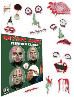 Zombie Spiegel Aufkleber-Set 19-teilig bunt 19x22cm