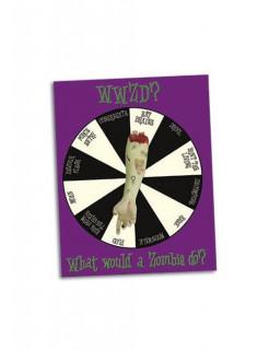 Spiel Drehscheibe Was würde ein Zombie tun? bunt 30x24cm