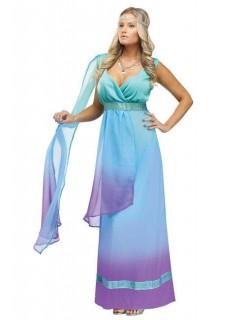Göttin Antike Damenkostüm blau-lila