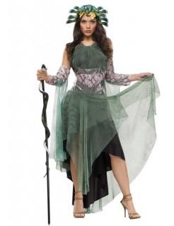 Medusa Antike Damenkostüm grün