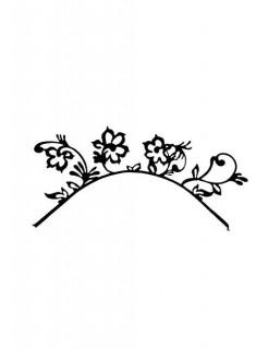 Papier-Wimpern Blumen schwarz