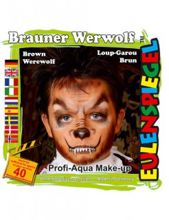 Werwolf Kinder Halloween-Schmink-Set 6-teilig braun