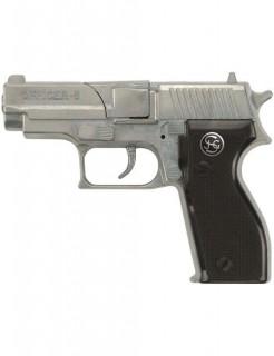 Officer 8-Schuss Polizei Pistole 15,5cm schwarz-silber