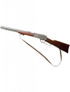 Western Rifle Cowboy Gewehr mit Holzgriff 73cm braun-silber