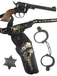 Sheriff Cowboy Western Set für Kinder braun-silbergrau