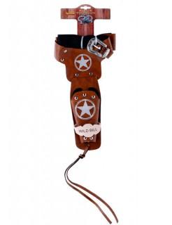 Cowboy Pistolengürtel Wild Bill mit Holster 105-115cm braun
