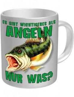 Angler-Tasse Kaffetasse weiss-grün 330ml
