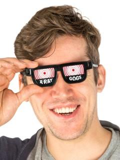 Röntgen Brille Scherzartikel schwarz