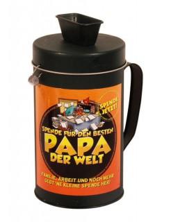 Spenden-Kasse für Papa bunt 19 cm
