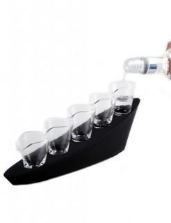 Domino Shots Schnapsgläser-Set Party-Gadget 6-teilig schwarz 30x10x7cm