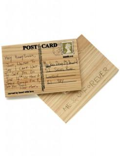 Postkarte aus Holz zum selber schnitzen braun 15x10x0,5cm