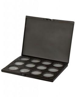 Mehron Aqua-Make-Up Schmink-Palette für 12 Farben schwarz