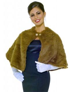 Pelz-Stola Diva Cape braun