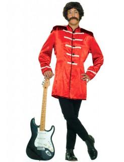 60er Rockstar Kostüm Uniform rot-schwarz
