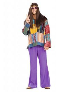 60er 70er Hippie Schlaghosen lila