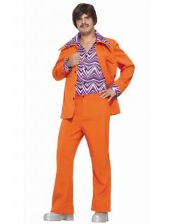 70er-Kostüm Disco-Anzug Faschingskostüm orange