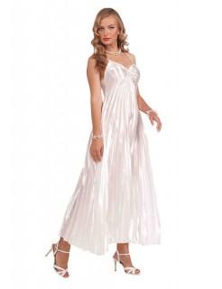 Filmstar Abendkleid Damenkostüm Diva weiss