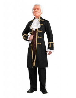 Präsident Kostüm USA Uniform schwarz-gold