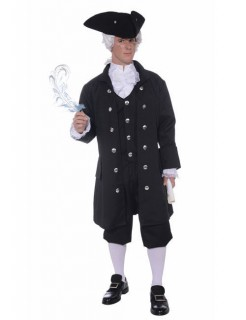 Uniform 19. Jh. Herrenkostüm schwarz-weiss