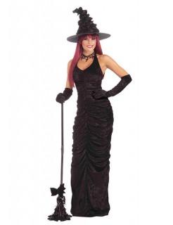 Hexe Halloween Damenkostüm Zauberin schwarz