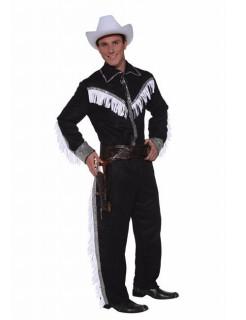 Cowboy Kostüm Western schwarz-weiss