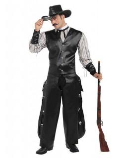 Cowboy Western-Kostüm schwarz-weiss