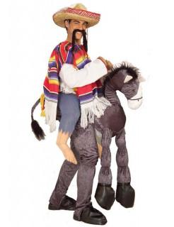 Mexikaner mit Esel Kostüm Western grau-bunt