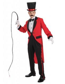 Zirkus-Direktor Kostüm rot-schwarz
