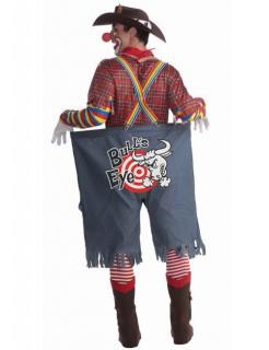 Rodeo Clown Kostüm rot-blau