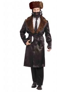 Rabbi Kostüm Geistlicher schwarz-braun
